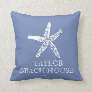 Coussin bleu de Chambre de plage d'étoiles de mer