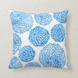 Coussin bleu éclectique d'indigo de Boho