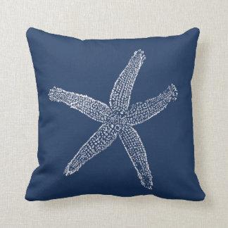 Coussin Bleu marine vintage d'illustration d'étoiles de