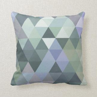 Coussin Bleus brumeux de matin de triangles géométriques