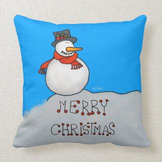 Coussin Bonhomme de neige de Joyeux Noël