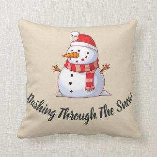 Coussin Bonhomme de neige orienté