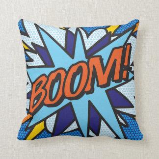 Coussin BOOM d'art de bruit de bande dessinée !