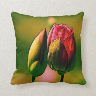 Coussin Bourgeons roses
