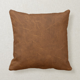 Coussin Brown naturel simili cuir