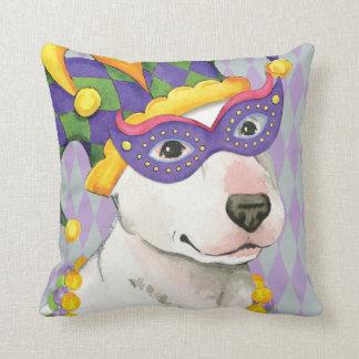 Coussin Bull-terrier de mardi gras