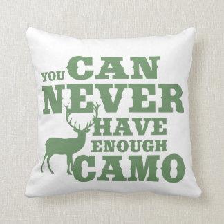 Coussin Camouflage d'humour de chasse de cerfs communs