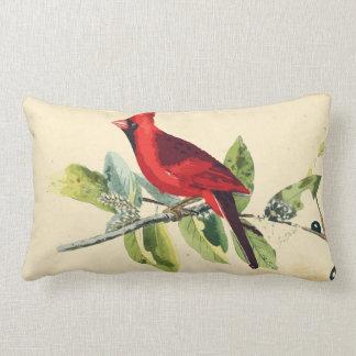 Coussin cardinal de décor d'oiseau