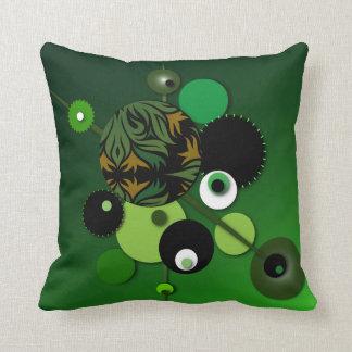 """Coussin Carreau avec la conception """"d'olive verte de"""