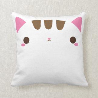 Coussin Carreau blanc adorable de chat