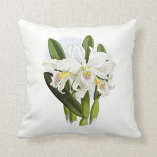 Coussin Carreau blanc d'orchidée