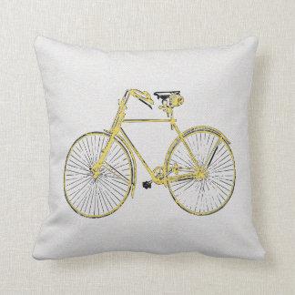 Coussin Carreau de bicyclette de jaune d'or de farine