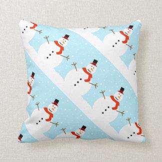 Coussin Carreau de bonhomme de neige de Noël