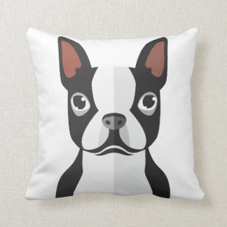 Coussin Carreau de Boston Terrier