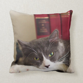 Coussin Carreau de coton de portrait de chat