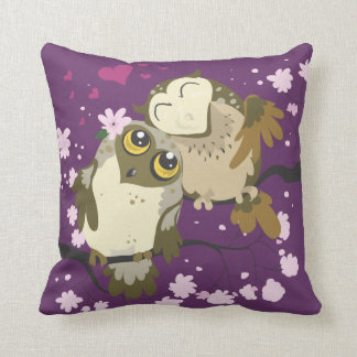 Coussin Carreau de hibou de Luv Birds~