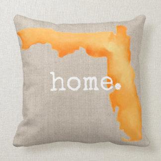 Coussin Carreau de la maison | de la Floride d'aquarelle