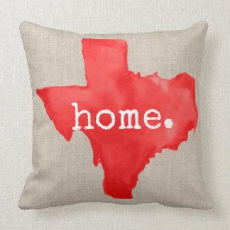 Coussin Carreau de la maison | du Texas d'aquarelle