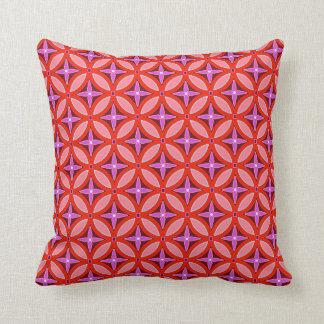 Coussin Carreau de motifs de corail et de lavande