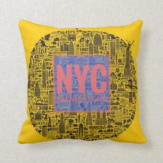 Coussin Carreau de New York City Manhattan