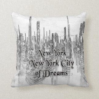 Coussin Carreau de New York New York Ville-de Dreams