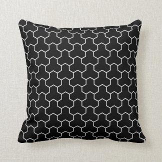 Coussin Carreau de noir de motif de Bishamon de Japonais