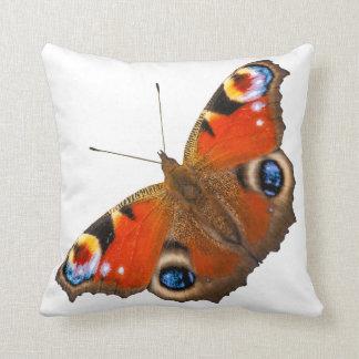 Coussin Carreau de papillon de paon
