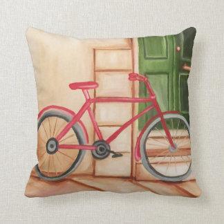 Coussin Carreau de peinture à l'huile de bicyclette,