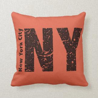 "Coussin Carreau de polyester de NY, carreau 16"" x 16"""