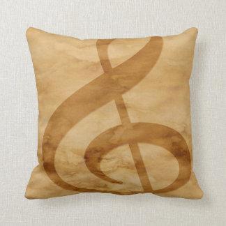Coussin Carreau de Tan de notes musicales