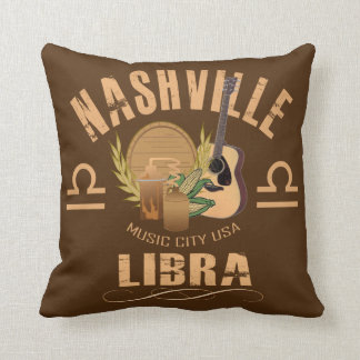 Coussin Carreau de zodiaque de Balance de Nashville