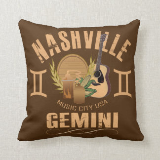 Coussin Carreau de zodiaque de Gémeaux de Nashville