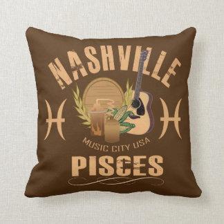 Coussin Carreau de zodiaque de Nashville Poissons