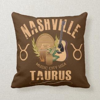Coussin Carreau de zodiaque de Taureau de Nashville
