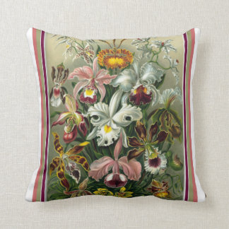 Coussin Carreau d'orchidée d'Ernst Haeckel