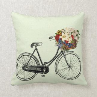 Coussin Carreau en bon état léger de fleur de bicyclette
