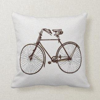Coussin carreau noir blanc frais de bicyclette d'or