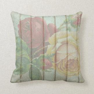 Coussin Carreau rose de menthe de fleur d'antiquité