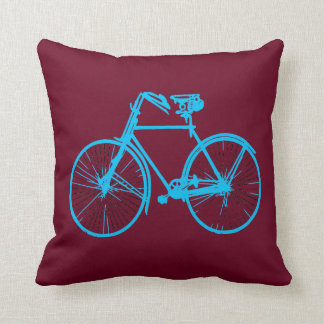 Coussin carreau rouge de bicyclette d'aqua merlot frais