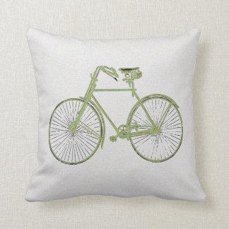Coussin carreau vert blanc frais de bicyclette