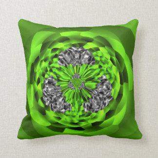 Coussin Carreau vert de polyester de bijoux de diamant de