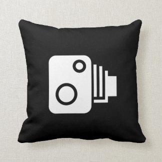 Coussin Carreau vintage de pictogramme d'appareil-photo