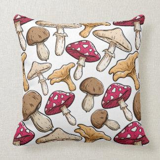 Coussin Carreaux de motif de champignon