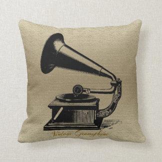 Coussin Carreaux vintages de polyester de phonographe