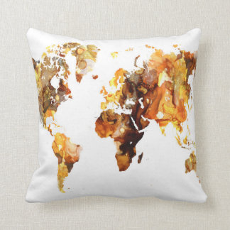 Coussin Carte du monde de la conception 102