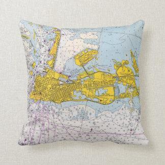 Coussin Carte nautique de diagramme de Key West la Floride