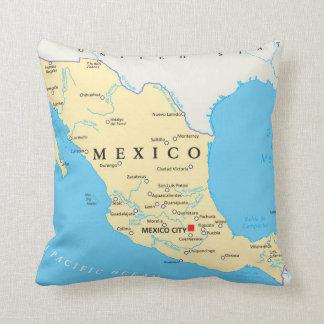 Coussin Carte politique du Mexique