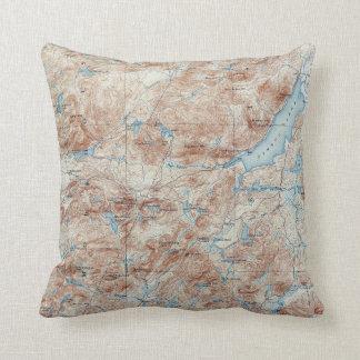 Coussin Carte topographique de New York de lac vintage