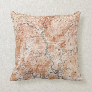 Coussin Carte topographique vintage de Luzerne New York