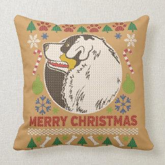 Coussin Chandail laid australien de Joyeux Noël de berger